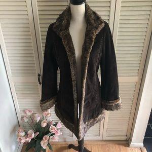 Charlotte Russe Faux Fur Coat Size Large